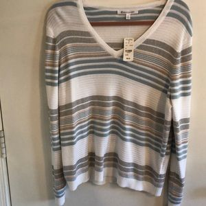 NWT Brooks Brothers sweater with silver stripes